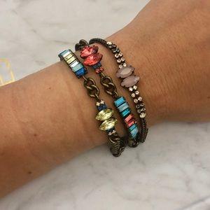 Chloe + Isabel Crystal Chain Bracelet